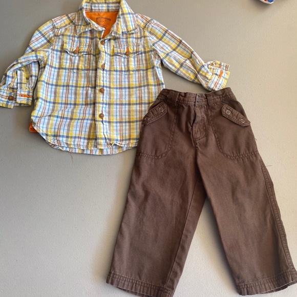 Little Boys Plaid Outfit